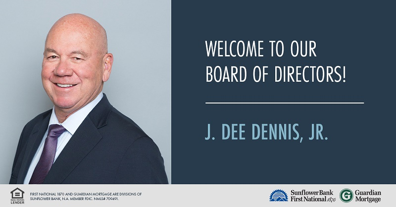 Welcome to our board of directors j. Dee Dennis, Jr.